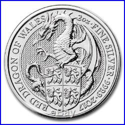 2016 Queen's Beast Lion, Dragon, and Griffin (Lot of all 3) Silver 2 Oz
