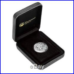 2017 $1 Dragon and Phoenix 1oz Silver Proof High Relief Coin