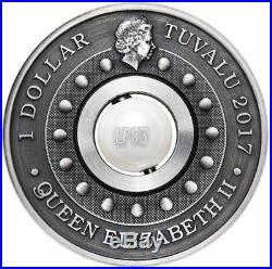 2017 1 Oz Silver $1 DRAGON AND PEARL Coin. Tuvalu
