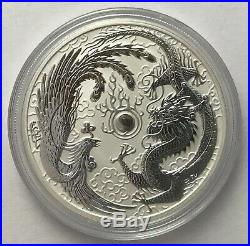 2017 1 oz Silver Dragon and Phoenix coin LOT of 10