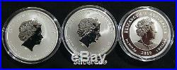 2017,2018,2019 Dragon Phoenix Tiger Double Dragon silver bullion SET OF 3 COINS