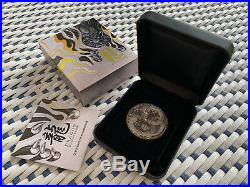 2017 2oz Silver Dragon Antiqued High Relief Coin Perth Mint