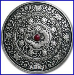 2017 3 Oz Silver Fiji 10$ CHINESE DRAGON Mandala Art III Coin