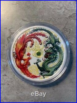 2017 Australian Dragon and Phoenix 1 oz. 999 Silver Bullion Coin Colour