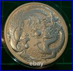 2017 Australian Dragon and Phoenix Mint Error 1 ounce Silver bullion coin Bunc
