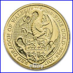 2017 GB 1 oz Gold Queen's Beasts The Dragon (MintDirect Single)