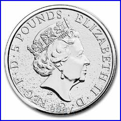 2017 Great Britain 2 oz Silver Queen's Beasts The Dragon £5 Coin