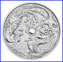 2017-P Australia $1 1Oz Silver Dragon & Phoenix Roll 20 Coins In Caps SKU44095
