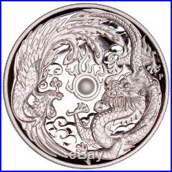 2017-P Australia Dragon & Phoenix HIGH RELIEF 1 oz Silver NGC PF70UC COA# 0002
