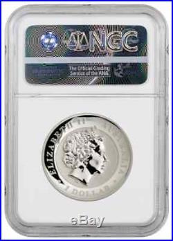 2017-P Australia Dragon & Phoenix High Relief 1 oz Silver $1 NGC PF70 UC ER