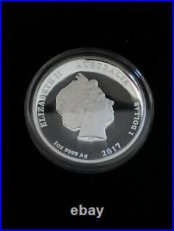 2017 Perth Mint 1oz Silver Dragon & Phoenix High Relief Proof