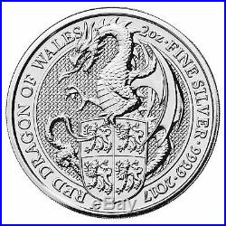 2017 Silver Queen's Beast Welsh Dragon 2 oz Pure 999 Silver Coin