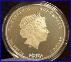 2018 $1 Australia 1 oz Silver Dragon and Phoenix Proof Coin
