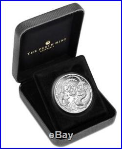 2018 1 oz Australia Dragon and Phoenix 9999 Silver Proof Coin IN HAND