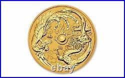 2018 1 oz Australian Dragon and Phoenix Gold Coin (BU)