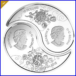2018 $10 FINE SILVER YIN AND YANG COINS TIGER AND DRAGON 0.9999 No. 165868