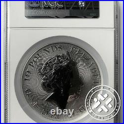 2018 10 OZ SILVER COIN NGC MS 70 GREAT BRITAIN QUEEN'S BEASTS Red Dragon