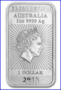 2018 Australia 1 oz Silver Dragon Rectangle BU Sealed Tube Of 20 Perth Mint