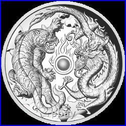 2018 Australia $2 Dragon & Tiger High Relief 2 oz Silver Proof Coin NGC PF 70