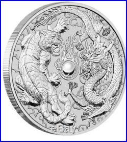 2018 Dragon & Tiger 1oz Perth Mint Silver Bullion Coin 20 Coin Roll