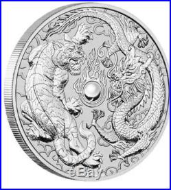 2018 Dragon and Tiger 1oz Silver Bullion (20 Coins) PULL5 5% Off