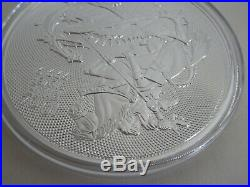 2018 Great Britain 10 oz Fine Silver Coin Valiant St George Slaying Dragon UK