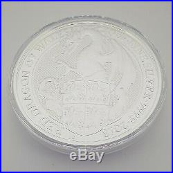 2018 Great Britain 10 oz. Silver Queen's Beasts The Red Dragon of Wales