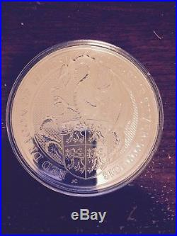 2018 Great Britain 10oz Silver Queens Beast Dragon Coin
