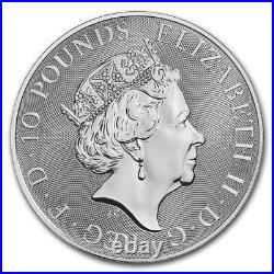 2018 Great Britain 2 oz Silver Queen's Beasts The Dragon