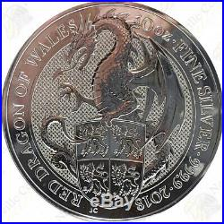 2018 Great Britain Red Dragon of Wales - 10 oz. 9999 fine silver - SKU #93186