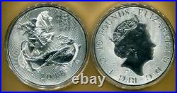 2018 Great Britain VALIANT 10-OZ. 9999 Silver 10-Pound Coin St. George/Dragon