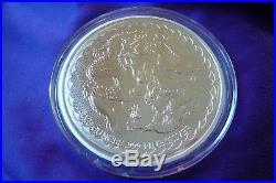 2018 NIUE Double Dragon 5 oz. 999 Fine Silver Coin Round