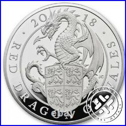 2018 Ngc Pf 70 Ultra Cameo 10 Oz Silver Coin Proof Coin Queen Beasts Red Dragon