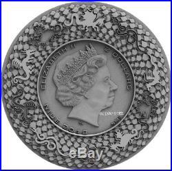 2018 Niue $2 CHINESE DRAGON Ultra High Relief 2 Oz Silver Coin