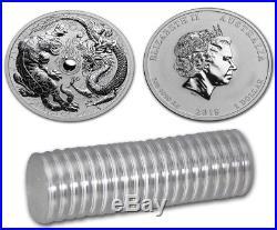 2018 Perth Mint 1oz Silver Dragon & Tiger Bullion Coin x20 in sealed roll SKU03