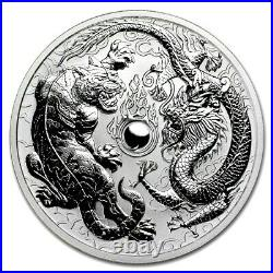 2018 Perth Mint 1oz Silver Dragon & Tiger Reverse Proof # 723