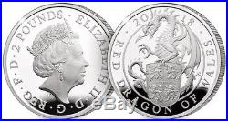 2018 QUEEN'S BEAST the RED DRAGON of Wales 1oz SILVER PROOF £2.00 Coin