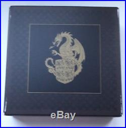 2018 Royal Mint Queens Beasts Red Dragon Of Wales £2 Silver Proof Coin COA 0685