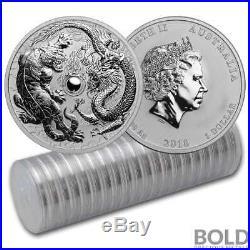 2018 Silver 1 oz Australia Perth Dragon & Tiger BU (20 Coins)