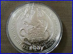 2018 Silver Queen's Beast Welsh Dragon 10 oz Pure 999 Silver Coin 10 ounce coin