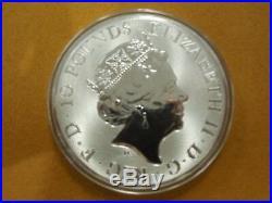 2018 St. George slaying the Dragon 10 oz. 999.9 fine silver round