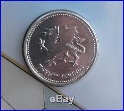 2018 Welsh Dragon £20 Fine Silver Royal Mint MIS STRIKE ERROR Coin