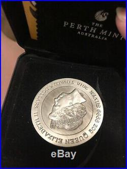 2018 tuvalu dragon 5oz antique silver coin coa box
