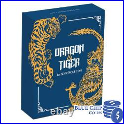 2019 $1 Dragon and Tiger Perth Mint 1oz Silver Proof Coin