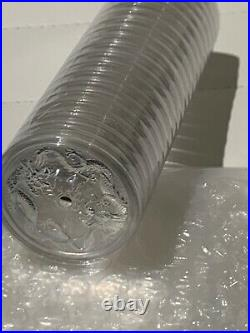2019 Australia 1 oz Silver Double Dragon Coin Sealed Roll of 20