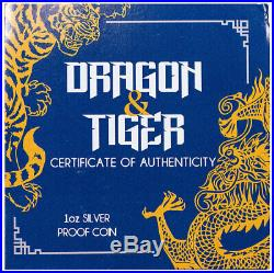 2019 Australia 1 oz Silver Tiger & Dragon Proof $1 NGC PF70 UC FR Opera SKU58148