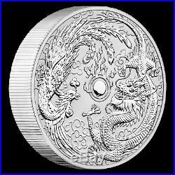 2019 Australia 10 oz Silver Dragon & Phoenix BU SKU#187287