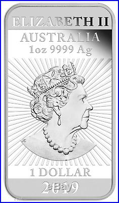 2019 Dragon 1oz PROOF Silver Rectangular $1 COIN NGC PF 70 ER