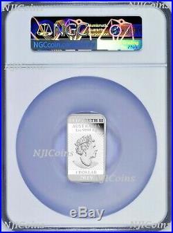2019 Dragon 1oz PROOF Silver Rectangular $1 COIN NGC PF 70 FR Lunar Label