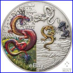 2019 Mythical Dragons The Four Dragons 2oz Silver Coin Mintage of 2,000